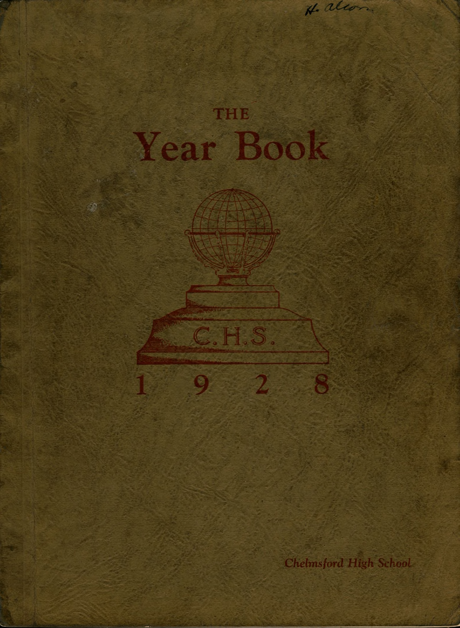 1928 Chelmsford High Yearbook 1