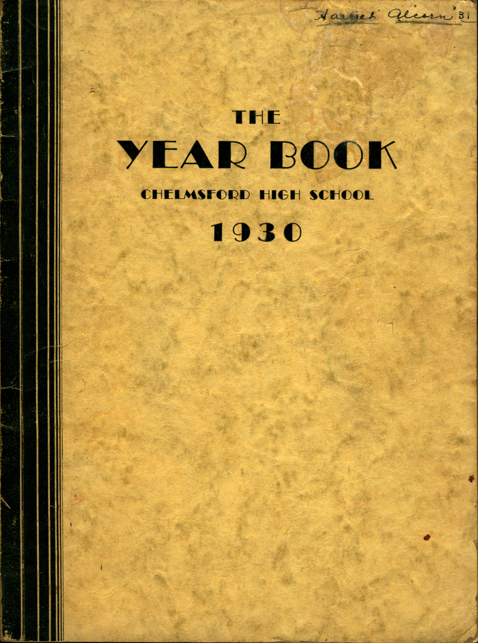 1930 Chelmsford High Yearbook 1